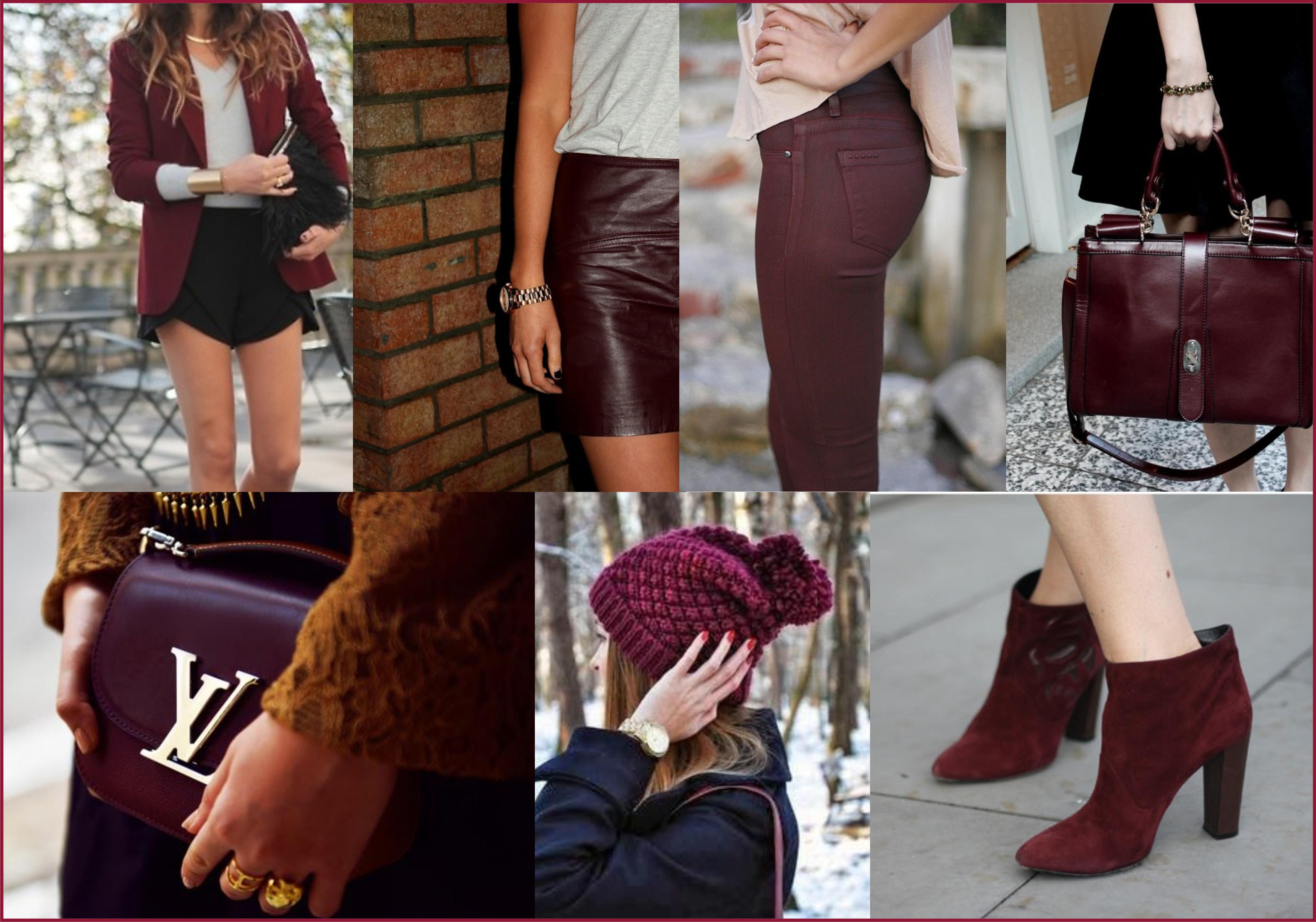 Outfits Con Zapatos Color Vino